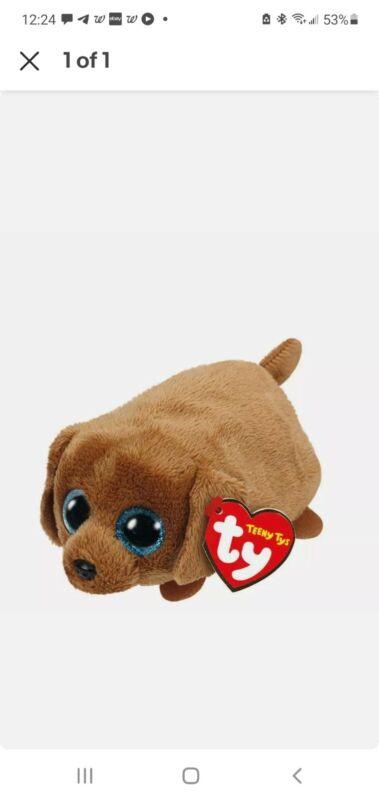 "TY Beanie Boos Teeny Tys 4"" RANGER Daschund Dog Stackable Plush Stuffed Animal"