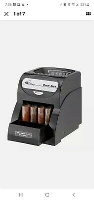 Electric Coin Sorter Change Money Cash Counting Counter Machine Anti-jam Roll