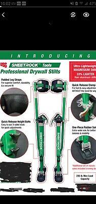 Usg Sheetrock Magnesium Lightweight Professional Drywall Stilts 18-30