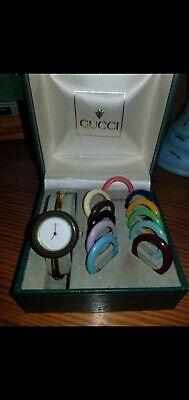 Vintage Gucci Watch Interchangeable Bezel Women's 70s 80s Multicolor