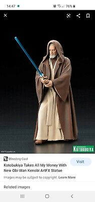 Kotobukiya Star Wars Obi Wan Kenobi 1/10 Scale ArtFX+ Statue