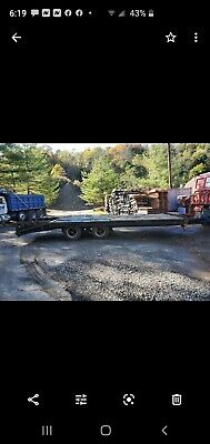 1993 Equipment Trailer 20 Ton Air Brakes New Tires And Brakes.19ft To Tail.
