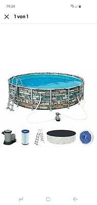 Bestway Pool Steel Frame pool Set Pumpe,Leiter, Plane 4,88cmx1,22 cm Neu und.OVP