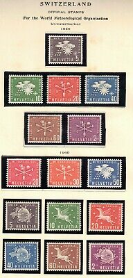 Switzerland 1956-60 Lot of 15 Mixed Lot of 15 Stamps