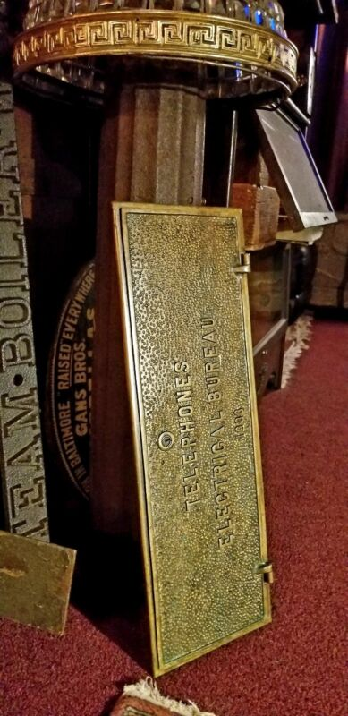 Architectural Salvage Philadelphia Pa Antique Electric Telephone Bronze Plaque