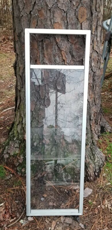 14 X 46 ALUMINUM FRAME PLEXY GLASS WINDOW. deer stands, shops, sheds, tree house