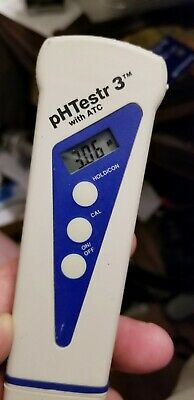 Cole-palmer Oakton Ph Meter Tester Phtestr 3 Atc Includes Probe