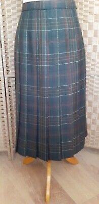 Equorian Heritage Vintage Size 14 - 16 Kilt Pure New Wool Skirt Pleated Tartan