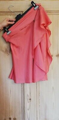 Vintage Hussein Chalayan Pink Silk Deconstructed Top Size 44/12