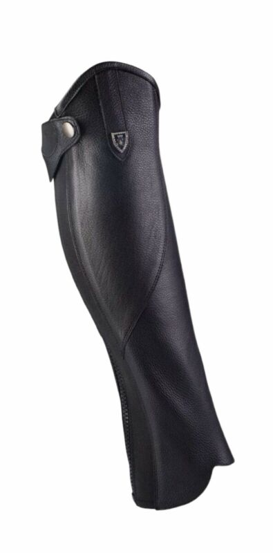 """🐎 HorZe """"Drew"""" Leather Half Chaps Large Height/Regular Calf New with Tags"""