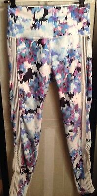 EUC Fabletics High Waisted Statement PowerHold 7/8 Leggings Sheer Sides XS-4