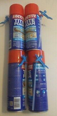 Lot Of 4 Henkel-loctite Tite Expanding Foam Insulating Spray - Window Door