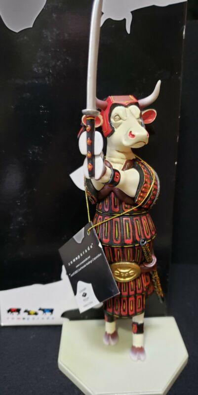 COW PARADE Sam-Moo-Rai Samurai Cow # 7246 2002 Retired Figurine