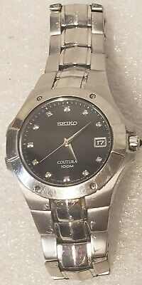 SEIKO Coutura Saphire Crystal Black Face 100 Meter  Mens Watch 7N42 -