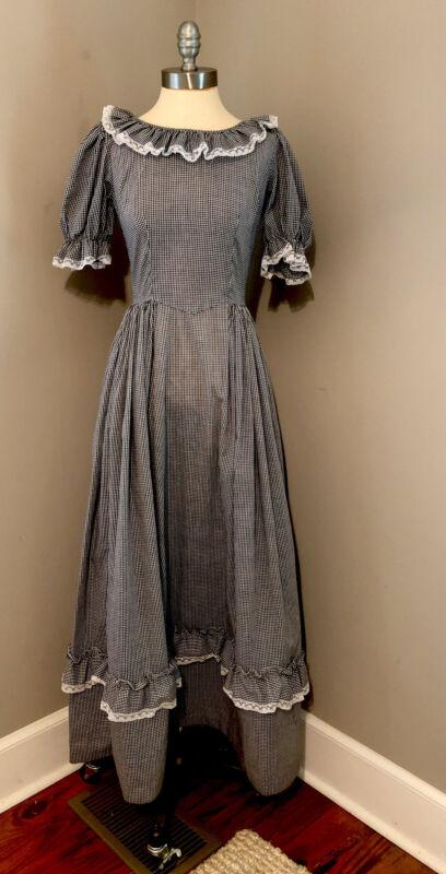 VTG Historical Dress Costume Reenactment Colonial Civil War Pioneer Prairie XS/S