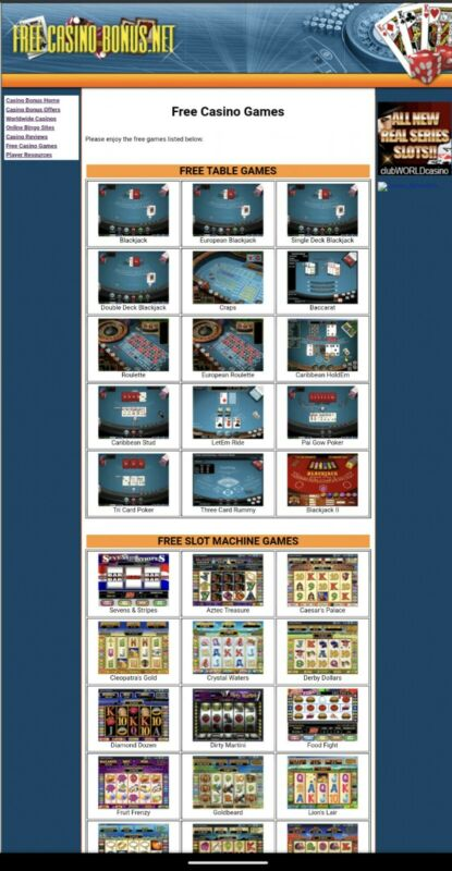 FreeCasinoBonus.net Affiliate Online Casino Gambling Website, Online Since 2003!