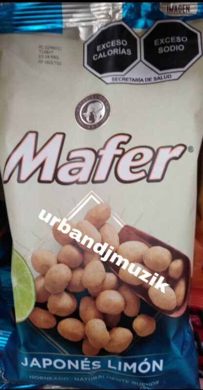 2X MAFER CACAHUATES JAPONES CON LIMON JAPANESE PEANUTS WITH LIME - 2 de 180g c/u