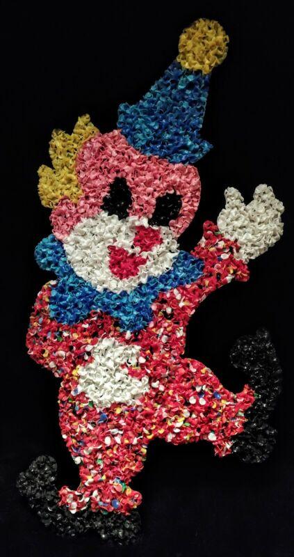 Super RARE!!! Vintage Melted Plastic Popcorn Decoration CUTE CIRCUS Clown! L@@K!