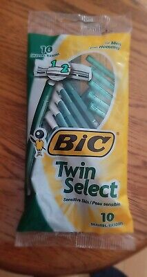 Bic Twin Select Rasor/Shavers For Men Sensitive Skin 10 pcs. In one pack. Bic Twin Shavers