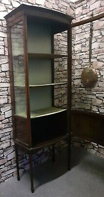 Victorian Vitrine Bow Fronted Display Cabinet