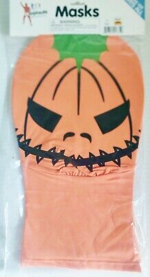 Real Morphsuit Pumpkin Face Mask M-Suit Adult Orange Halloween Costume Accessory