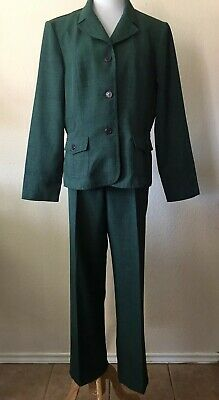 Green Pant Suit By Prophecy Size 14