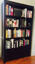 Dark Brown Wooden Bookshelf with Drawers Mosman Mosman Area Preview