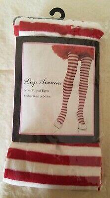 Raggedy Ann Tights (Red White Leg Avenue 7300 Raggedy Ann Striped  Tights Nylon New stockings)