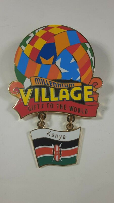 Disney Millennium Village Balloon Cast Member Pin Kenya WDW
