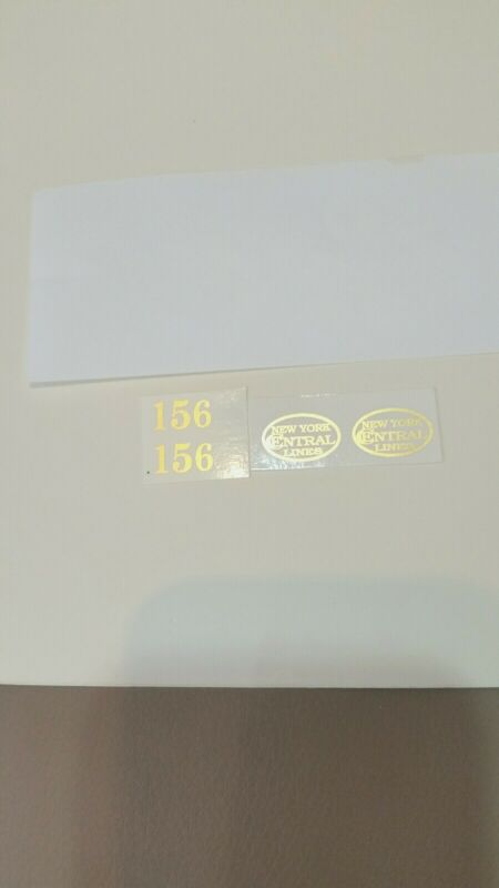 LIONEL PRE-WAR O GAUGE 156 LOCO GOLD METALLIC WATERSLIDE DECAL 0 4 0 ENGINE SET