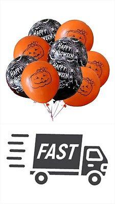 10pcs Halloween Latex black orange Balloons Pumpkin Spider Party Props Decor NEW](Halloween Balloons Latex)