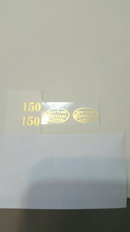LIONEL PRE-WAR O GAUGE 150 LOCO GOLD METALLIC WATERSLIDE DECAL 0 4 0 ENGINE SET