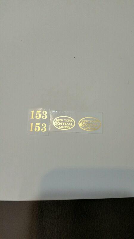 LIONEL PRE-WAR O GAUGE 153 LOCO GOLD METALLIC WATERSLIDE DECAL 0 4 0 ENGINE SET