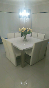 Modern Square White Gloss Dining Set Cockburn Peterborough Area Preview