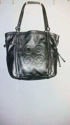 Coach silver metallic handbag