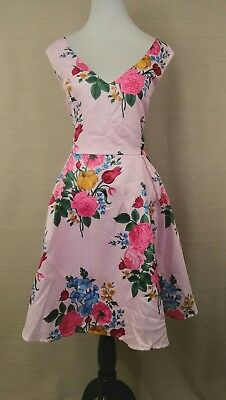 Liza Luxe Modcloth Ladylike Luxury Fit & Flare Dress in Viollet XXL Pink Floral