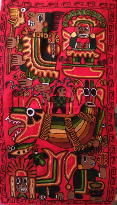 Peruvian Wool Tapestry Wall Hanging Handcrafted