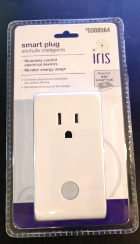IRIS SMART PLUG 110 Volt Home Electronic Outlet System 0388564 White New Sealed