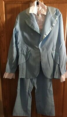Dumb And Dumber Costume Harry Dunne Blue Tuxedo One Size Fits Most New - Blue Dumb And Dumber Tuxedo
