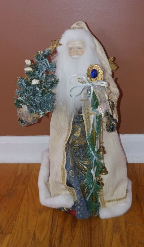 "1995 Holiday Workshop 18"" Santa Claus Figure bringer of gifts and joy"