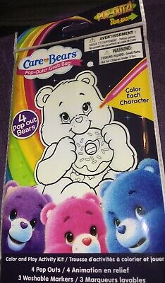 Care Bears Pop Outz Grab Bag Color n Play Activity Kit Arts n Craft Party Favors