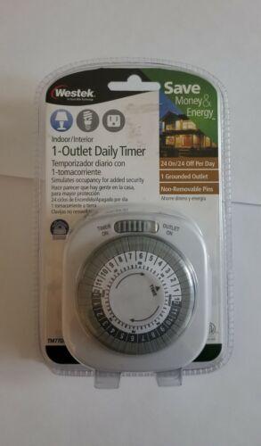 Westek 1-Outlet Indoor Daily Timer 24 Hour Mechanical Ground