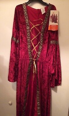 Hyde & Eek! Womens Medieval Queen Dress Up Costume Adult Medium M (8-10) NEW (Medieval Dress Women)