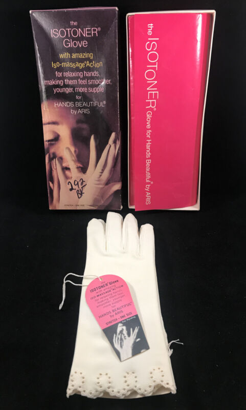 Vintage Womens Isotoner Gloves by Aris White New With Tags & Box 23218 Size 6-8