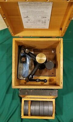 Ashcroft Type 1300 Dead Weight Gauge Calibration Tester Complete Set Military