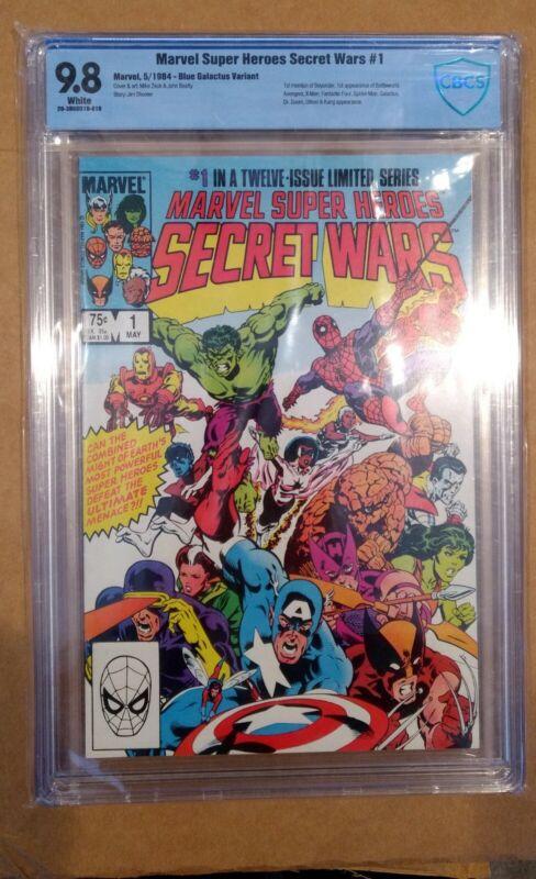 Marvel Superheroes Secret Wars #1 CBCS 9.8 (not CGC) - Blue Galactus error