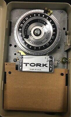Tork 1101 Mechanical Timer 24 Hour Single Pole Single Throw 120vac 40a