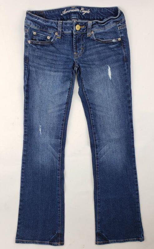 "American Eagle Jeans Size 0 Long Favorite Boyfriend 33"" Denim Low Stretch Junior"