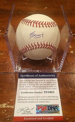 Blake Swihart Autographed ROMLB Baseball  Red Sox PSA & GTSM Authentication