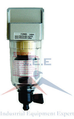 """1/4"""" Compressed Air In Line Moisture & Water Filter Trap F202 Compressor New"""